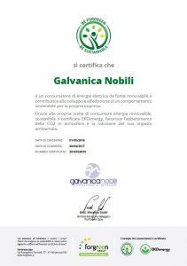 Certificato Galvanica Nobili