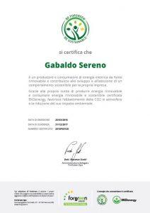 Gabaldo Sereno_ Certificato