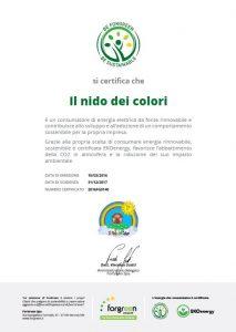 Certificato Nido dei Colori